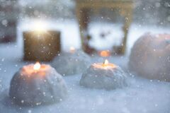 Snow lanterns Royalty Free Stock Photo