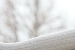 Snow layers Stock Photography