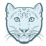 Snow Leopard Logo Mascot Emblem vector. Snow leopard head. Royalty Free Stock Image