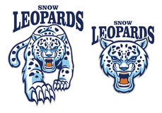 Snow leopard mascot Royalty Free Stock Image