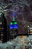 Snow Light NYC Stock Images