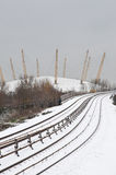 Snow in London Stock Photography