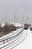 Snow in London Stock Photo