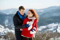 Snow love Stock Photography