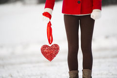 Snow love Stock Image