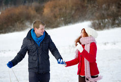 Snow love Stock Photo