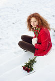 Snow love Stock Images
