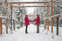 Snow love Stock Image