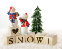 Snow Lovers Stock Photo