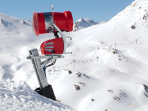 A snow machine. A machine to make artificial snow Royalty Free Stock Image
