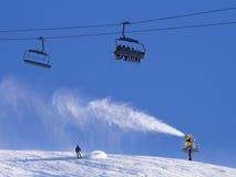 Snow machine gun Stock Images
