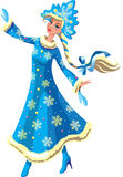 Snow  Maden. The dancing snow princess - an illustration Royalty Free Stock Image