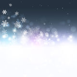 Snow Magic Dark Background Royalty Free Stock Images