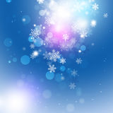 Snow Magic Dark Background Royalty Free Stock Photos