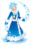 Snow maiden. Bright Christmas party, gifts, hope, love Royalty Free Stock Images