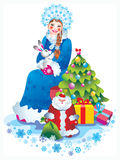 Snow maiden Royalty Free Stock Images