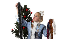 Snow Maiden Stock Photography