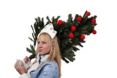 Snow Maiden Royalty Free Stock Photography