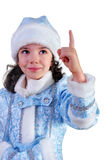Snow Maiden. Girl dressed as Snow Maiden Stock Photo
