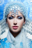 Snow maiden Royalty Free Stock Photos