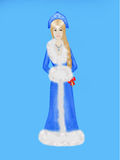 Snow maiden in blue dress Royalty Free Stock Photography