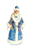 Snow Maiden doll. Isolated on white background Royalty Free Stock Photography