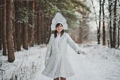 Snow Maiden Father Frosts granddaughter 1476. Stock Photos