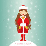 Snow maiden. Greeting card Royalty Free Stock Photos