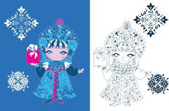 Snow Maiden russian style Royalty Free Stock Images