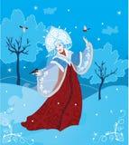 Snow Maiden russian style. Vector illustration. Winter fantasy Stock Photography