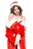 Snow Maiden sexy Stock Images