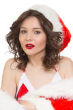 Snow Maiden sexy. santa girl Royalty Free Stock Images