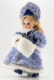 Snow-maiden on white. The photo shows the doll of Snow-maiden on white Royalty Free Stock Image