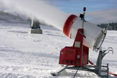 Snow maker Stock Images