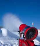 Snow-making gun Stock Photo