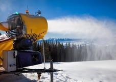 Snow making gun Royalty Free Stock Images