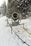Snow making machine Stock Photography