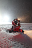 Snow making machine Royalty Free Stock Images
