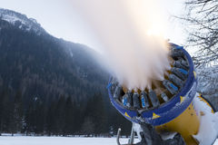 Snow making machine close up Royalty Free Stock Photography