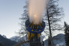 Snow making machine close up Stock Photography
