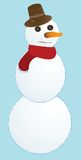 Snow man. Illustration,  abstract vector art Royalty Free Stock Images