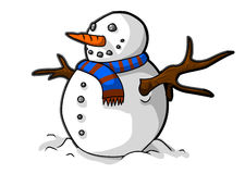 The snow man. A vector snow man illustration Stock Images