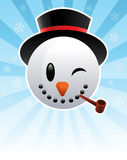 Snow Man. Illustration of a snow man, perfect for a greeting card Royalty Free Stock Images