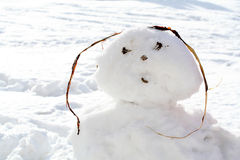 Snow man Stock Image