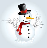 Snow Man. Cute Snow Man vector illustration background Stock Images