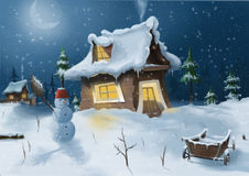 Snow man Stock Images