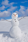 Snow man royalty free stock photos