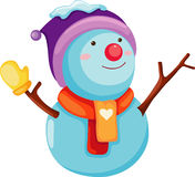 Snow Man. Isolated on white background Stock Photography