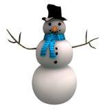 Snow man royalty free illustration