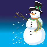 Snow man. Colorful illustration of a snow man Stock Illustration